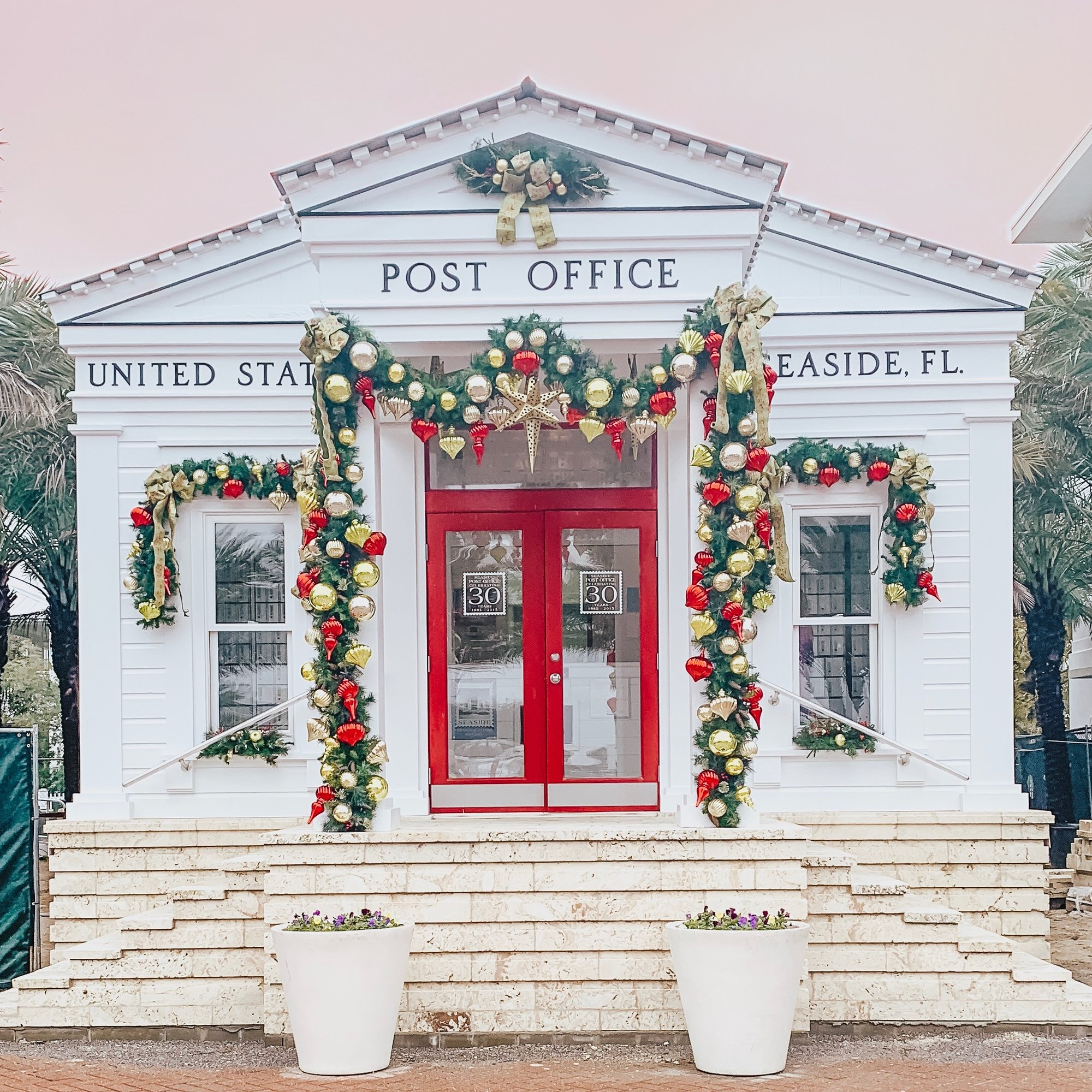 Seaside 30A Post office Christmas